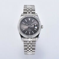 39mm parnis Grey dial Steel sapphire miyota automatic mechanisch Uhr men's Watch