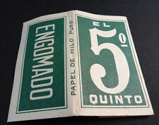 ANTIQUE CIGARETTE ROLLING PAPER EL QUINTO EARLY 1900 TOBACCIANA COLLECTIBLES 1C