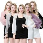 Womens Summer Sunscreen Long Sleeve Cardigan Tops Cover up Shawls Wraps Chiffon