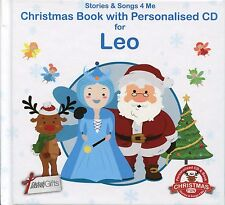CHRISTMAS BOOK WITH PERSONALISED CD FOR LEO - STORIES & SONGS 4 ME