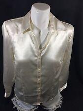 JM Women White Button Down Sleeping Long Sleeev Soild Color Size 6 Bon76#18