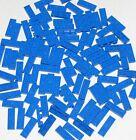 Lego Lot of 100 New Blue Plates 1 x 3 Dot Building Blocks Parts Pieces