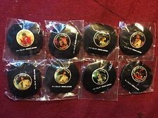 Michael Jackson 4 Pack Button Pins New Sealed Pinback Music King Pop Badge