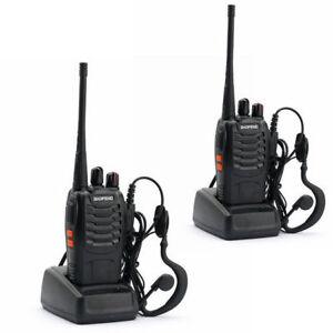 2 PCS Baofeng/Pofung 888S UHF 400-470 MHz 2 way Radio Amateur Ham Talkie Walkie