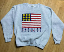 Vintage Cliff Engle America Crewneck Sweater Grey Size Large