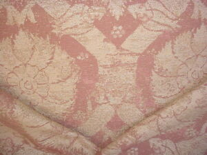 5-3/4Y KRAVET 17185 EARTHY GOLD MAUVE SPANISH DAMASK TAPESTRY UPHOLSTERY FABRIC