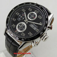 44mm corgeut black dial date day 24 hours multifunction automatic mens Watch 174