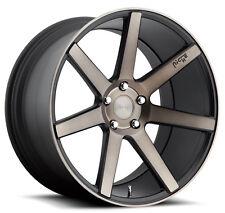 "19"" x8.5  Niche Verona M150 BLACK MACHINE rims FIT Audi A4 5-112 et+42 /lug bolt"