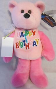 `Limited Treasures Happy Birthday The Birthday Bear Pink Plush Bear Collectible
