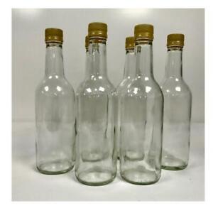 12 Clear glass Screw lid fermentation bottles- Sturdy bottles 500ml