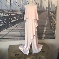 ASOS | UK 18 Tall | Pink Maxi Dress | Prom | Thigh Split | Sleeveless | BNWT