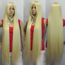 Rapunzel Tangled light blonde straight long synthetic cosplay wig cap