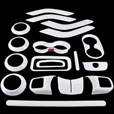 18 PCS Full Set Interior Decoration Trim Kit, For Jeep Wrangler JK JKU (White)