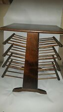 Midcentury Wooden Magazine Stand with Eight turned spindle Shelves 23x21x15