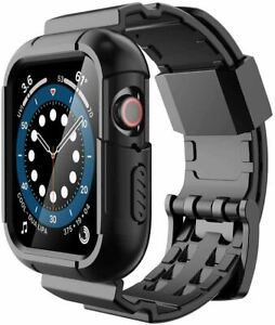 Protective Case with Band with Apple Watch 44mm 42mm, Shock Proof - Black