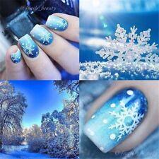 11Sheet Christmas Nail Art Stickers Snowflakes Snowmen Decal Water Transfer Gift