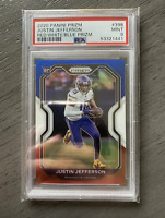 PSA 9 2020 Panini Prizm Justin Jefferson Red White & Blue RC *Only One On eBay*