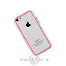 Apple iPhone 5C/i5C/Lite Protective Bumper Pink/Transparent Clear Case Cover
