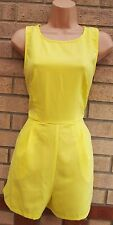 EVITA BRIGHT YELLOW CUT OUT BACKLESS FORMAL CURVY FIT PLAYSUIT ALL IN ONE 10 S