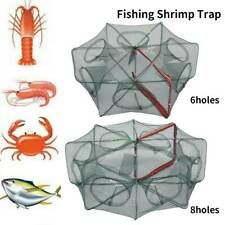 Trous pliable automatique filet pêche crabe crevettes écrevisse homard appât  SH