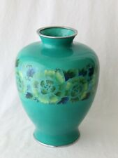 Antique Vintage Japanese Silver Wire Cloisonne Vase Showa Period