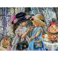 5D DIY Full Drill Square Diamond Painting 2 Girls Cross Stitch Embroidery #G