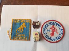Oxford Speedway HANS NIELSEN World Champion Cloth Badge 1985 Cowley Stadium 1986