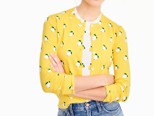J.Crew Yellow Jackie Cardigan in Lemon Print, NWT. Orig$79 Small, new arrival