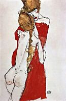 Two embracing women by Egon Schiele. Fine Art Repro Choose Canvas or Paper