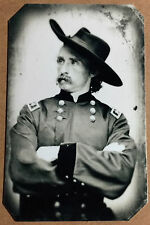 Civil War General George Armstrong Custer  tintype C1048RP