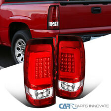 LED Red Tail Lights For 03-07 Chevy Silverado 04-07 GMC Sierra Clear Brake Lamps