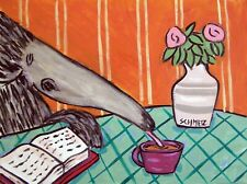 ant eater art coffee 13x19 artprint animals impressionism artist gift new