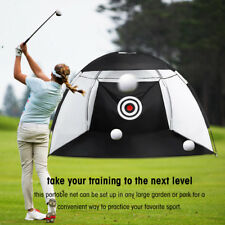 3m Golf Practice Driving Hit Net Cage Training Mat Aid Driver Irons W/ Bag