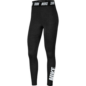 NIKE Sportswear Club Leggings Damen Fitness Tights Leggins Sporthose schwarz