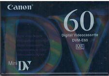 Canon DVM-E60 digital videocassette. 60 minutes.