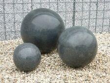 Dekokugel Granitkugel schwarz poliert 40 cm Kugel Granit Gartenkugel Wohndeko