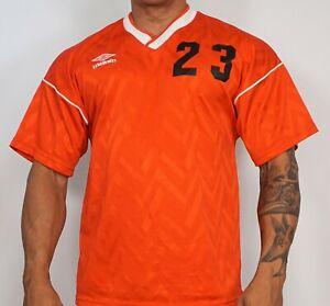 "MEN'S UMBRO RED ""23"" SHORT SLEEVE T-Shirt ADULT XL"