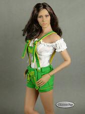 1/6 Scale Phicen, FG Female White Blouse & Green Shorts Lederhosen Uniform Set