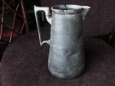 """ANTIQUE PEWTER ? SILVER PLATE ? SWING TOP JUG CHASED DESIGN SHAW & FISHER 9"""""""