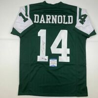 Autographed/Signed SAM DARNOLD New York Green Rookie Football Jersey Beckett COA