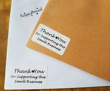 100x Thank You For Supporting Small Business Packaging Mailing Business Stickers