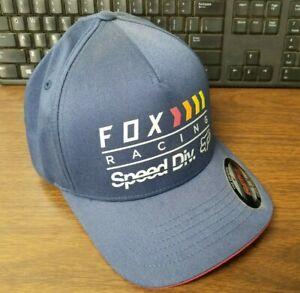 New Fox Men's Fan Flexfit Hat Navy S/M L/XL 22456-007