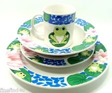 TIENSHAN FROG CHINA STONEWARE DISHES 4 PC PLACE SETTING d