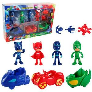 PJ Masks Action Figures Car Set Catboy Owelette Gekko Romeo Luna Night Ninj Toys
