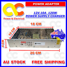 AU 12V 10A Power Supply Charger Adapter Transformer 3528 5050 LED Strips Adapter