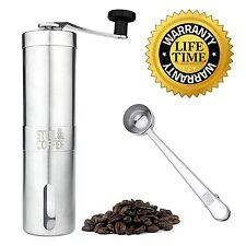 Hand Coffee Grinder Stainless Steel Manual Adjustable Mill Handle Ceramic Burr