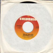 Willie Nelson September Song b/w Don't Get Around Much Anymore 45-rpm Record VG+