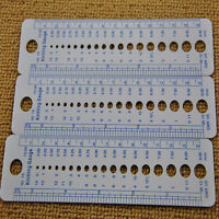 1x Plastic Knitting Needle Size Gauge Ruler Weaving Tools- Inches/CM  r*t