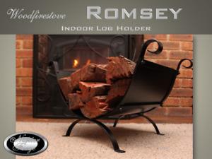 FIREPLACE ACCESSORIES FIREWOOD STORAGE Indoor Log Rack - Wood Holder - ROMSEY