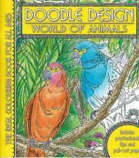 World of Animals Colouring Book - Doodle Design - Art Therapy
